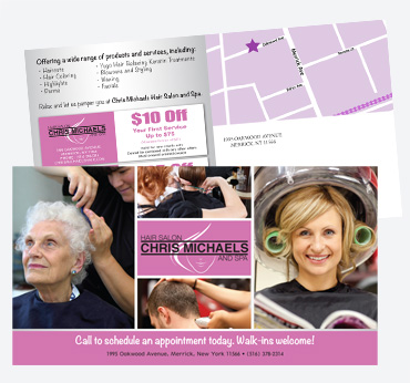 Chris Michaels Hair Salon & Spa: 6X11 Postcard