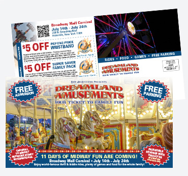 Dreamland Amusements: 6X11 Postcard